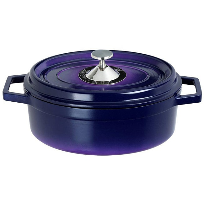 Art & Cuisine Cocotte Purple 6.8-quart Cast Aluminium Oval Roaster Pan