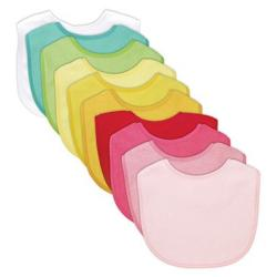 iPlay Waterproof Absorbent Terry Bibs (Pack of 10) - Thumbnail 2