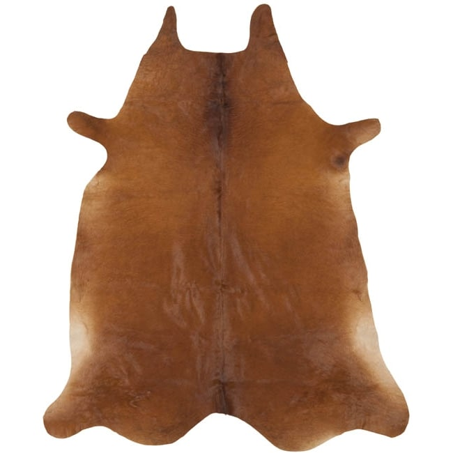 Safavieh Handpicked Hacienda Argentinian Brown Cowhide Leather Rug (4' 6 x 6' 6 )