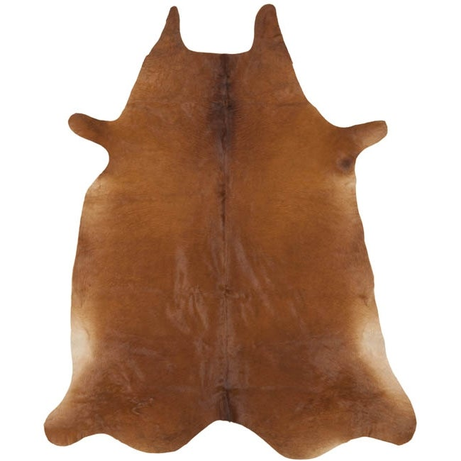 Safavieh Handpicked Hacienda Argentinian Brown Cowhide Leather Rug (4' 6 x 6' 6 ) - Thumbnail 0