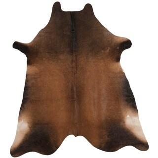 Safavieh Handpicked Hacienda Argentinian Tan Cowhide Leather Rug (4' 6 x 6' 6 )