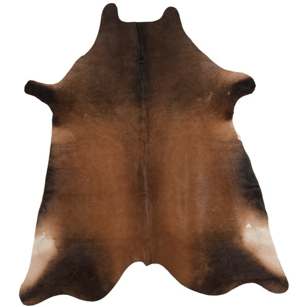 "Safavieh Handpicked Hacienda Argentinian Tan Cowhide Leather Rug - 4'6"" x 6'6"""