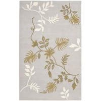 Safavieh Handmade Soho Twigs Light Grey New Zealand Wool Rug - 5' x 8'