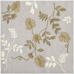 Safavieh Handmade Soho Twigs Light Grey New Zealand Wool Rug (6' Square)