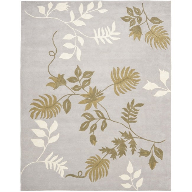 Safavieh Handmade Soho Twigs Light Grey New Zealand Wool Rug - 7'6 x 9'6