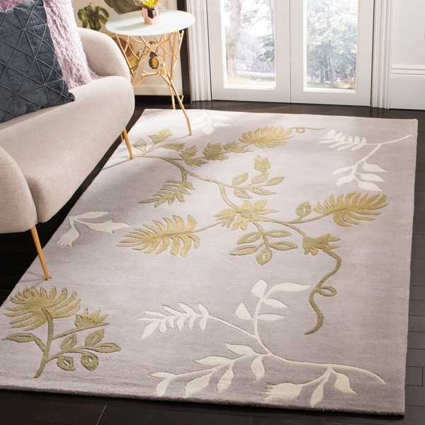 Safavieh Handmade Soho Twigs Light Grey New Zealand Wool Rug - 7'6 x 9'6