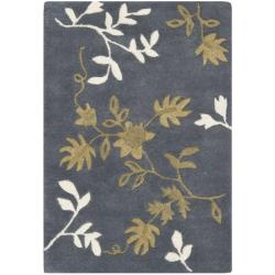 Safavieh Handmade Soho Twigs Dark Grey New Zealand Wool Rug (2' x 3')
