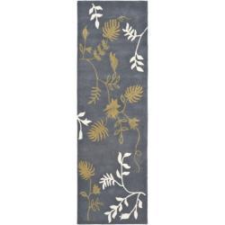Safavieh Handmade Soho Twigs Dark Grey New Zealand Wool Rug (2'6 x 8')