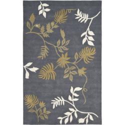 Safavieh Handmade Soho Twigs Dark Grey New Zealand Wool Rug (3'6 x 5'6')