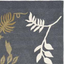 Safavieh Handmade Soho Twigs Dark Grey New Zealand Wool Rug (5'x 8')