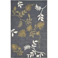 Safavieh Handmade Soho Twigs Dark Grey New Zealand Wool Rug - 5' x 8'