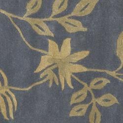 Safavieh Handmade Soho Twigs Dark Grey New Zealand Wool Rug (6' Round) - Thumbnail 2
