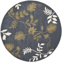 Safavieh Handmade Soho Twigs Dark Grey New Zealand Wool Rug (6' Round)
