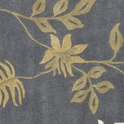 Safavieh Handmade Soho Twigs Dark Grey New Zealand Wool Rug (6' Square) - Thumbnail 2