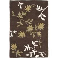 Safavieh Handmade Soho Twigs Brown New Zealand Wool Rug (2' x 3') - 2' x 3'
