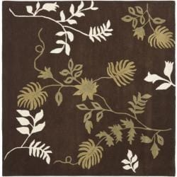 Safavieh Handmade Soho Twigs Brown New Zealand Wool Rug (6' Square)