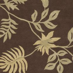 Safavieh Handmade Soho Twigs Brown New Zealand Wool Rug (7'6 x 9'6)