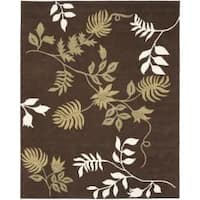 Safavieh Handmade Soho Twigs Brown New Zealand Wool Rug - 7'6 x 9'6
