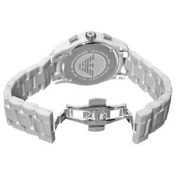 3b92c800 Emporio Armani Women's 'Ceramic' White Dial Chronograph Watch |  Overstock.com Shopping - The Best Deals on Women's Watches