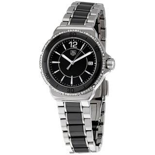 Link to Tag Heuer Women's WAH1212.BA0859 'Formula 1' Black Diamond Dial Ceramic Watch Similar Items in Women's Watches