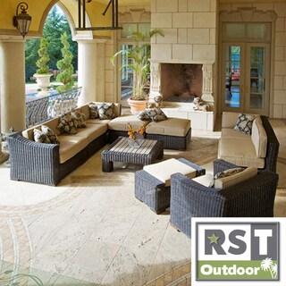 RST Resort Collection 'Casita' Deluxe Espresso Rattan 10-pc Patio Furniture Set