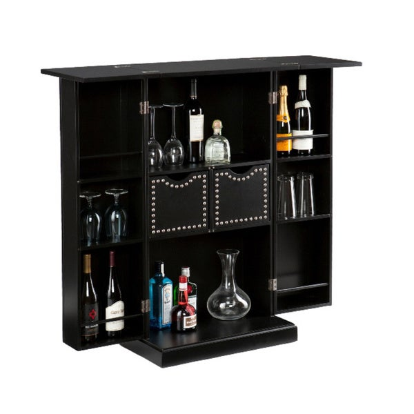 angelo:Home Beekman Black Fold Away Bar