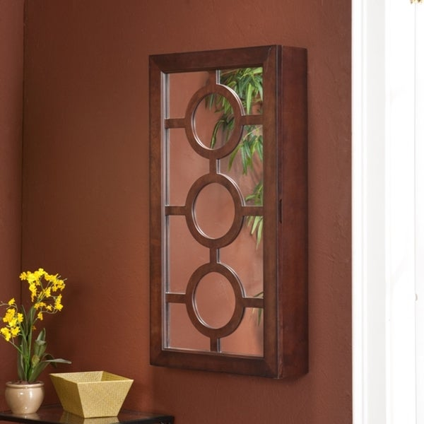 Ainsley Wall Mount Jewelry Mirror