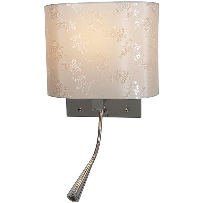 Epiphanie LED Chrome Finish Gooseneck Wall Lamp