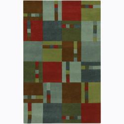 Artist's Loom Hand-tufted Contemporary Geometric Wool Rug (2'x3') - Thumbnail 0