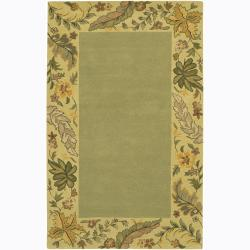 Artist's Loom Hand-tufted Transitional Floral Wool Rug (2'x3') - Thumbnail 0