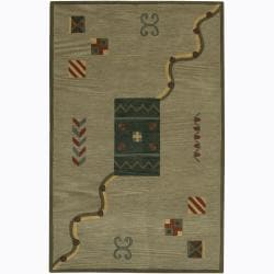Artist's Loom Hand-tufted Contemporary Geometric Wool Rug (2'x3')