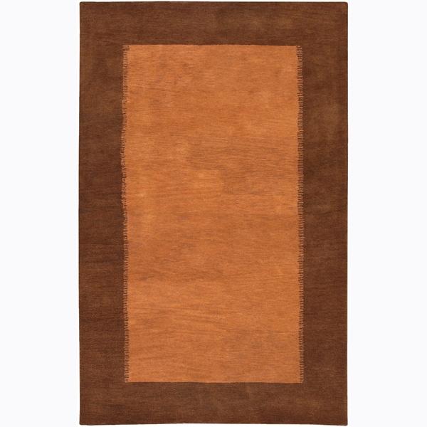 Artist's Loom Hand-tufted Contemporary Border Wool Rug (7'9x10'6)
