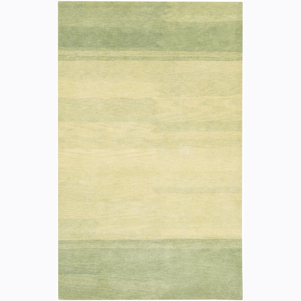 Artist's Loom Hand-tufted Contemporary Stripes Wool Rug - 7'9 x 10'6