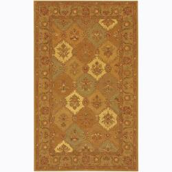 Artist's Loom Hand-tufted Traditional Floral Wool Rug - 7'9 x 10'6 - Thumbnail 0