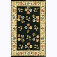 Artist's Loom Hand-tufted Transitional Floral Wool Rug (2'x3')