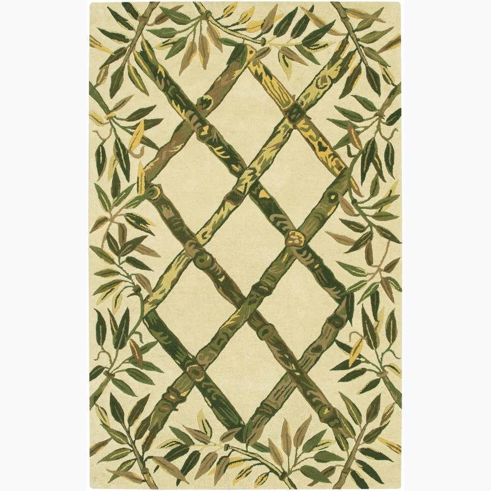 Artist's Loom Hand-tufted Transitional Floral Wool Rug (2...