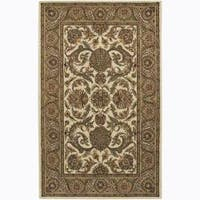 Artist's Loom Hand-tufted Traditional Floral Wool Rug - 5'x7'6