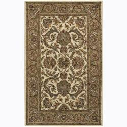 Artist's Loom Hand-tufted Traditional Floral Wool Rug (7'9x10'6) - Thumbnail 0
