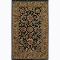 Artist's Loom Hand-tufted Traditional Floral Wool Rug (7'9 Round)