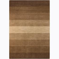 Artist's Loom Hand-tufted Contemporary Stripes Wool Rug (5'x7'6) - Thumbnail 0
