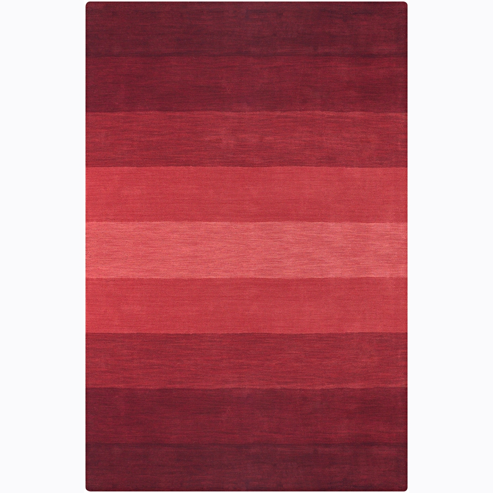 Artist's Loom Hand-tufted Contemporary Stripes Wool Rug (7'9x10'6)