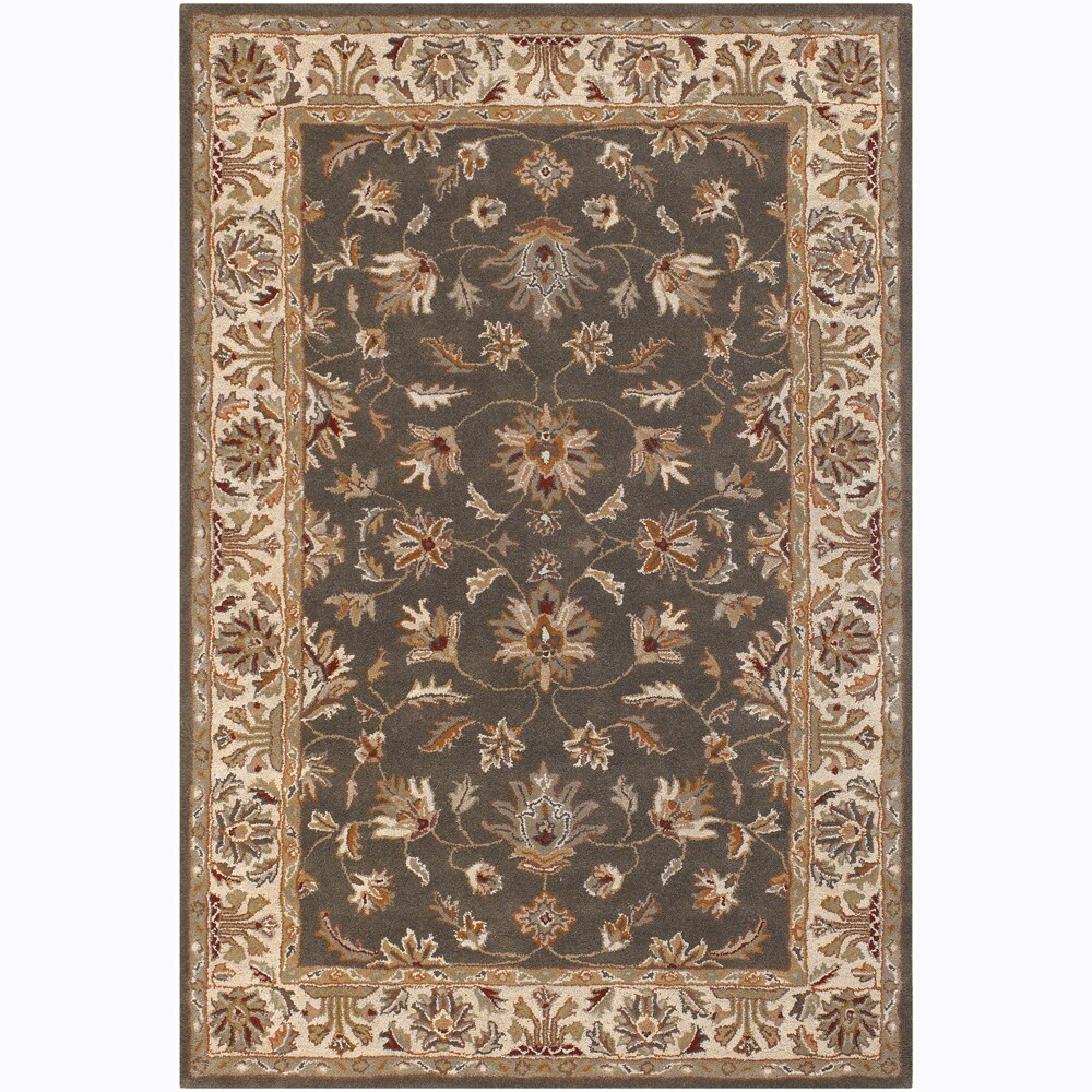 Artist's Loom Hand-tufted Traditional Floral Wool Rug (5'x7'6) - 5' x 7'6
