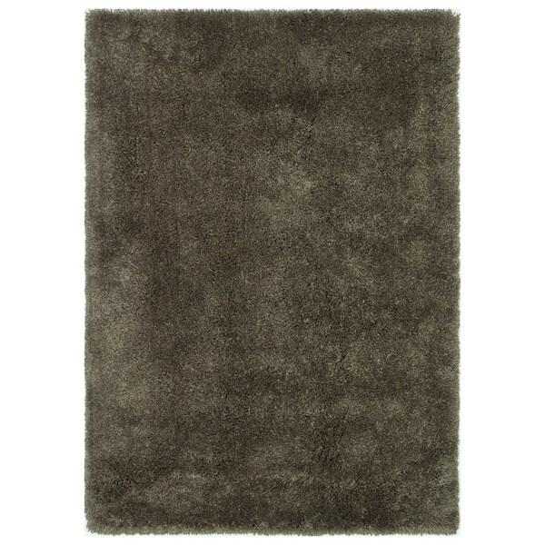 "Carlisle Hand-tufted Taupe Shag Rug (5' x 7'6) - 5' x 7'6"""