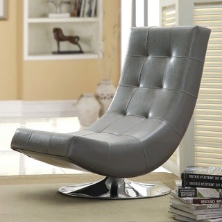 Furniture of America Encore Leatherette Swivel Chair