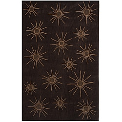 Dynasty Hand-tufted Brown/ Tan Rug (3'6 x 5'6)