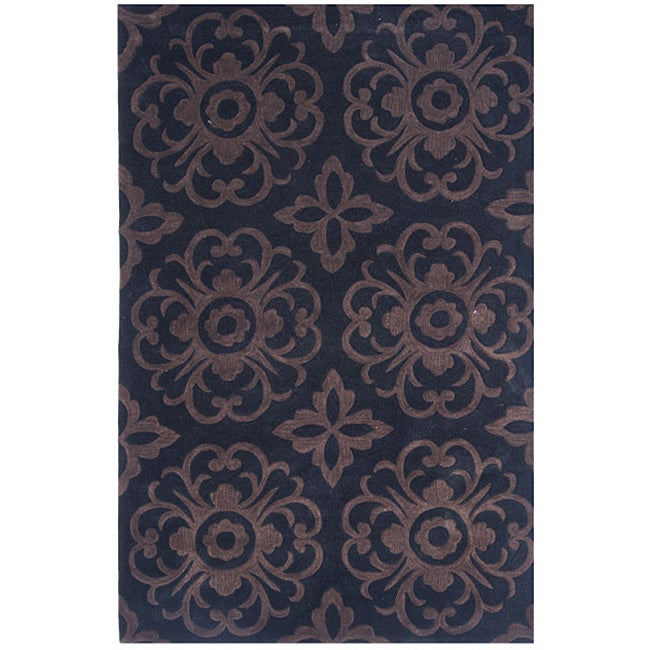 Dynasty Hand-tufted Beige/ Brown Rug (2'6 x 8'0)