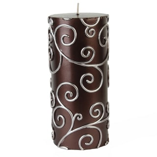3x6 Inch Scroll Pillar Candles (Pack of 12)