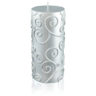 "3x6 Inch Scroll Pillar Candles (Pack of 12) - 3""d x 6""h"