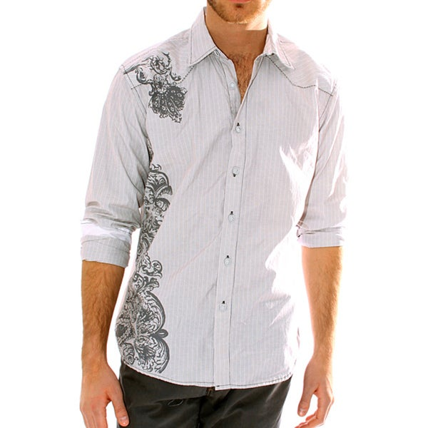 191 Unlimited Men's Grey Screen Print Shirt