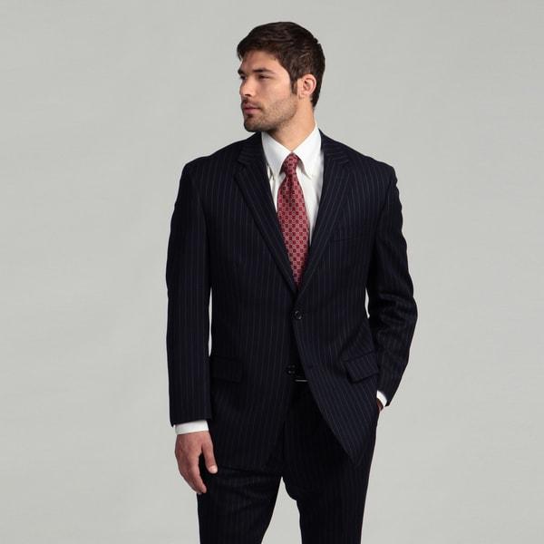 MICHAEL Michael Michael Kors Men's Navy/Grey Stripe Wool Suit